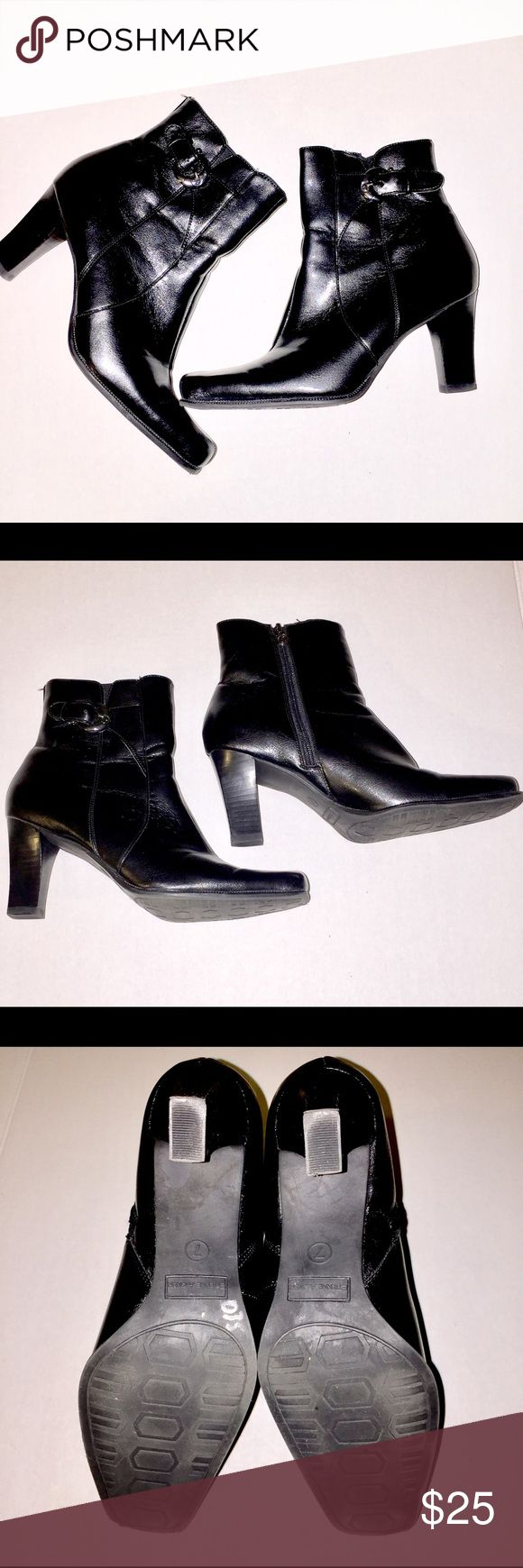 Etienne Aigner Short Black Bootie Etienne Aigner Short Black Bootie, Size 7M, Great Condition. Etienne Aigner Shoes Heeled Boots