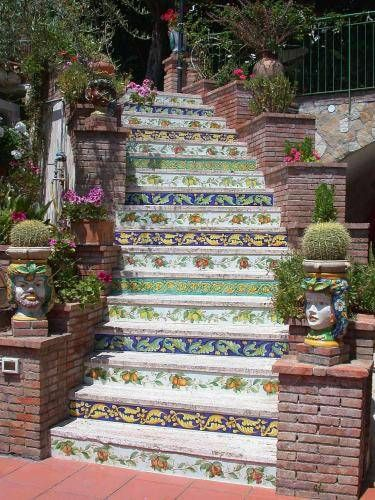 Sicilia - Italy - Floral Staircase