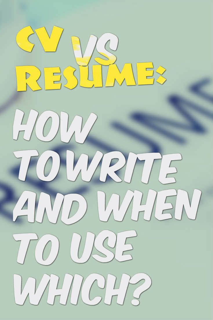 CV vs Resume How to Write and
