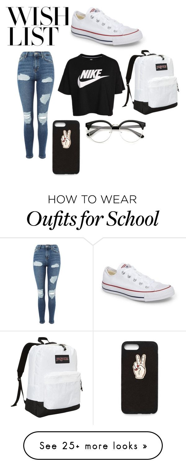 """#PolyPresents: Wish List"" by mildred11415 on Polyvore featuring Topshop, NIKE, Converse, JanSport, Nasty Gal, contestentry and polyPresents"