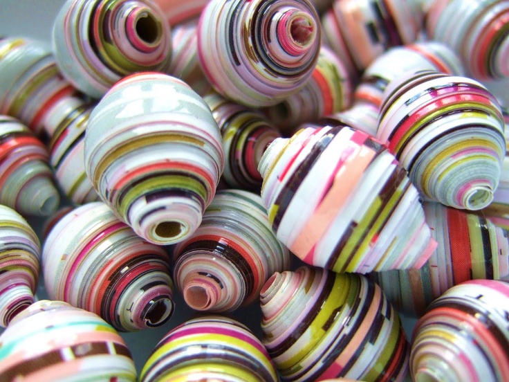 Utterly Unique Paper Jewellery by Karen Kaye - Made from something that would have been thrown away!