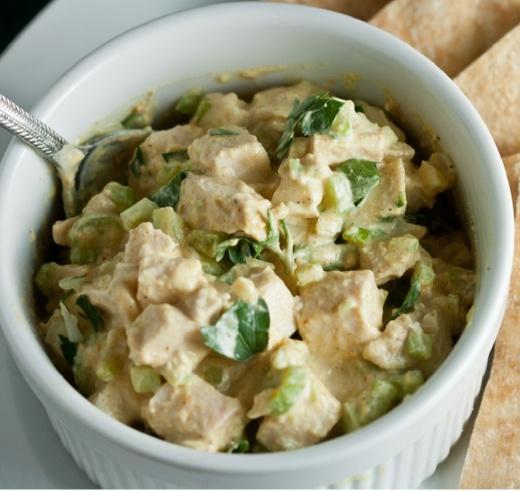 Tandoori Chicken Salad {Lactose Free!}