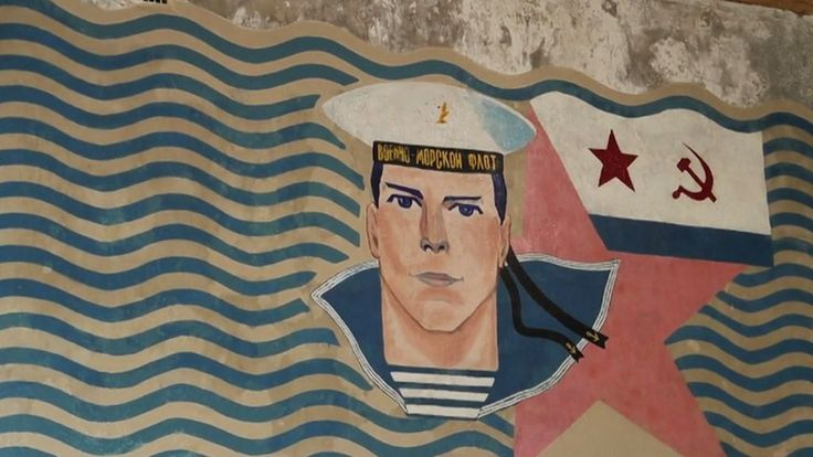 Estonian artists have take the unusual step of restoring a Soviet navy mural.