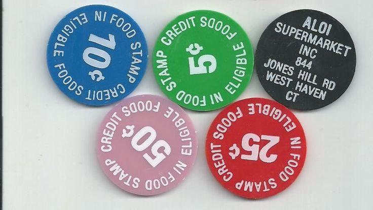 Aloi Supermarket West Haven CT Food Stamp Credit Token Set