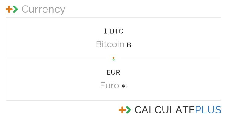 Bitcoin price is quite stable in the last months. Check out how much 1 Bitcoin is worth in Euro right now: https://calculate.plus/en/convert/1/Bitcoin/to/Euro