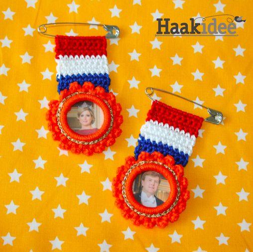 Kijk wat ik gevonden heb op Freubelweb.nl: een gratis haakpatroon van Haakidee om deze leuke medailles te maken https://www.freubelweb.nl/freubel-zelf/zelf-maken-met-haakkatoen-24/