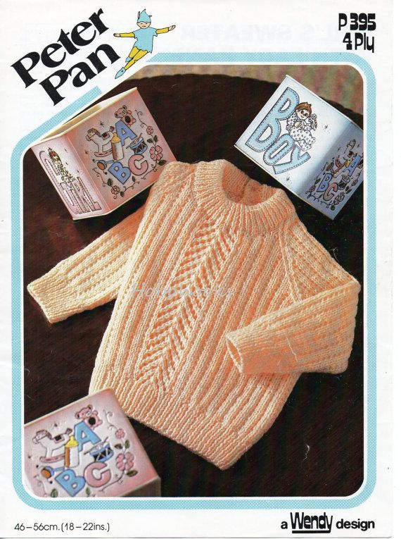 Baby knitting pattern baby sweater baby jumper round by Minihobo
