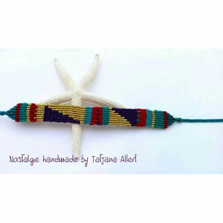 Macrame bracelet  Colorful geometric   https://m.facebook.com/Nostalgiehandmade/
