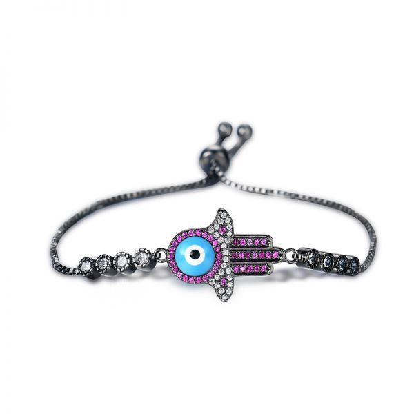 600 bracelets punk gun black hamsa hand bracelet vintage zircon cuff chain #bracelets #21st #birthday #bracelets #30th #birthday #bracelets #made #out #of #rubber #bands #t #shirt #bracelets