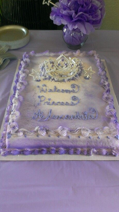 princess baby shower themed cake at the party pinterest