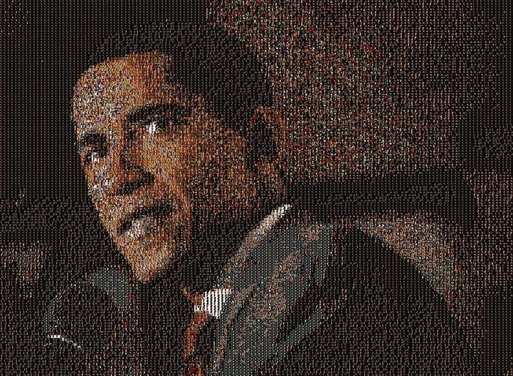 Con las tiras Command para cuadros podemos hacer increíbles composiciones como esta poniendo cientos de fotos en una pared!
