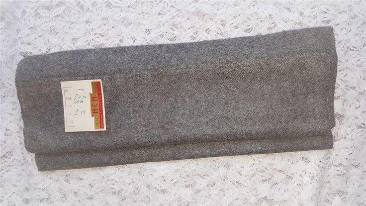 Annons på Tradera: Stuvbit Ull-tyg från historisk butik. Kuriosa för sömnad