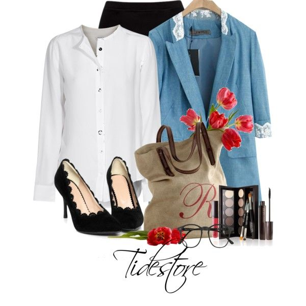 """""""Fabulous Jeans Blazer Sale Tidestore"""" by tidestore-club on Polyvore #Tidestore #Polyvoresets #Fashionsets"""