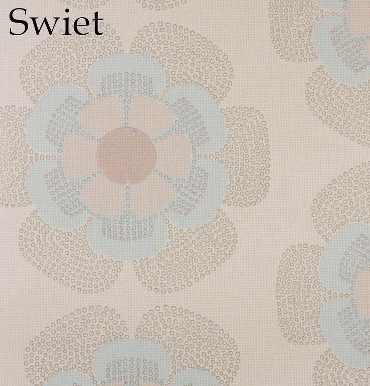 Baby stijl retro bloemen behang   Swiet