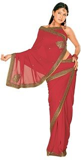 Getting ready for your #wedding #night? Wear your #sari #saree like this pretty lady.