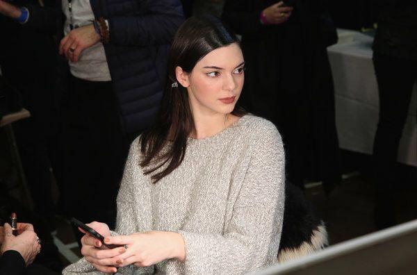 Kendall Jenner backstage at NY FASHION WEEK