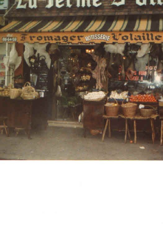 My own photograph of a Butcher Shop in the Loire Valley, France, 1979.