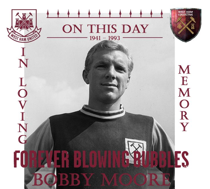 #ONTHISDAY 1993 WE LOST A TRUE LEGEND - BOBBY MOORE #RIPMOORO #WHUFC #ENGLAND