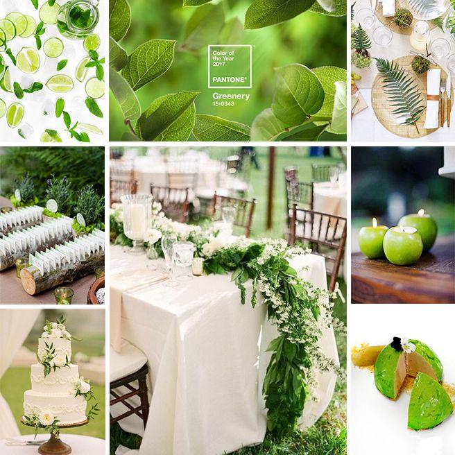 Couleurs mariage 2017 vert greenery pantone decoration table mariage decoration table et - Couleur mariage 2017 ...