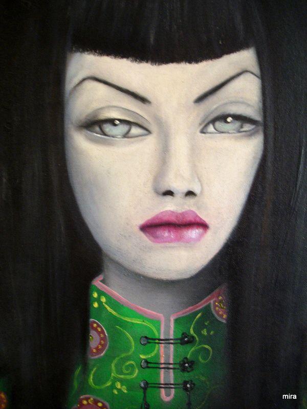 geisha/ canvas/ oil paint