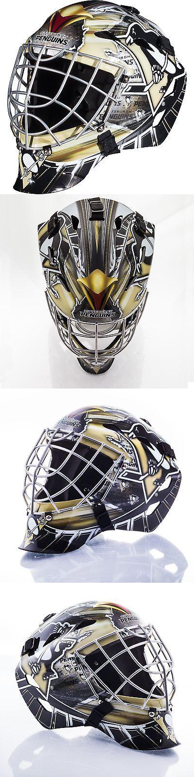 Face Masks 79762: Gfm 1500 Goalie Face Mask Pittsburgh Penguins Protection Chrome Finish Hockey -> BUY IT NOW ONLY: $97.99 on eBay!