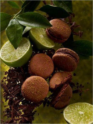 PH Sept 2012- chocolate & lime macaron