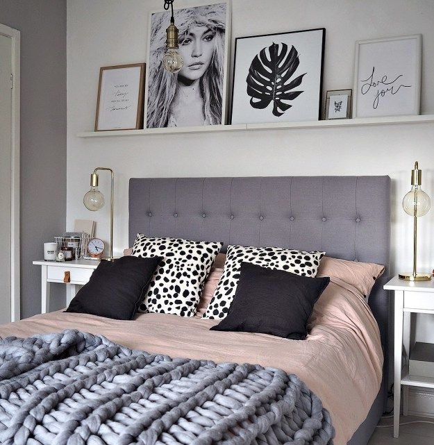 Picture rail: how to style art above the bed | Alittleleopard.com