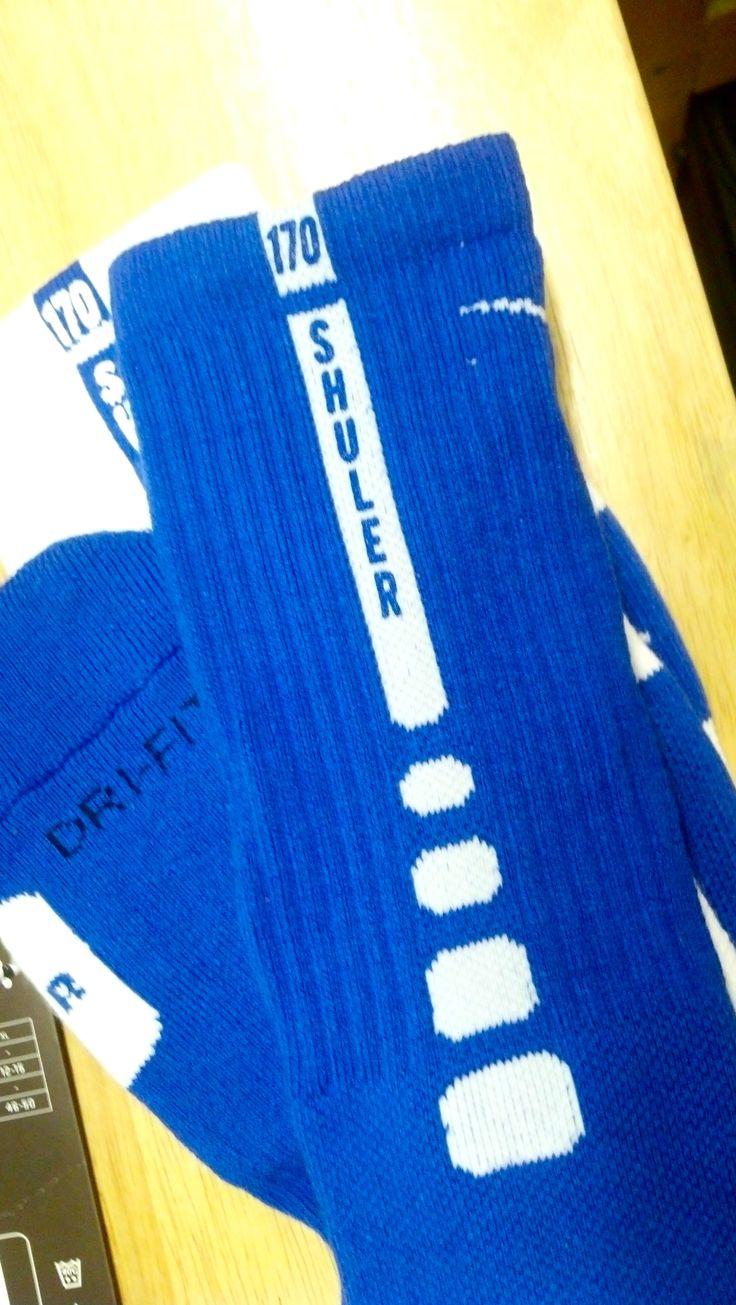 Nike Elite Socks - personalized - custom - Wrestling - Brandon Shuler 170 - Plattsmouth High School - design - screen print - screenprint - Kearney, NE - Shirt Shack