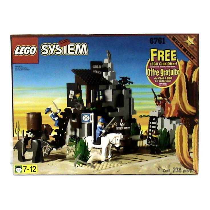 Bandit S Secret Hideout Lego 174 System Wild West Set 6761