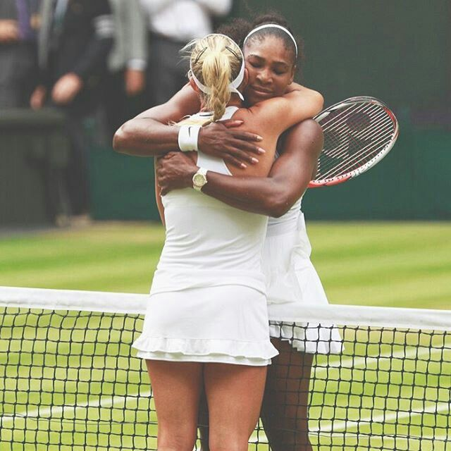 Respect one another. Serena and Kerber Wimbledon 2016