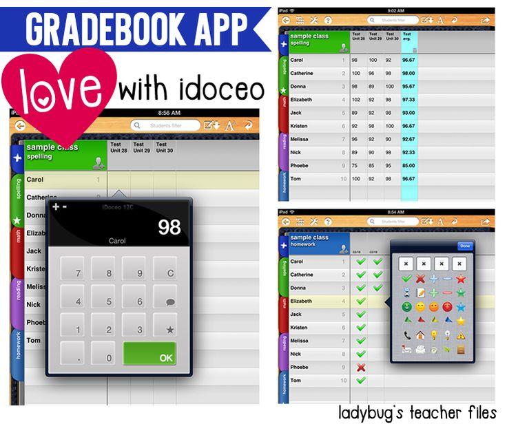Ladybug's Teacher Files: Gradebook App Love! (iDoceo)