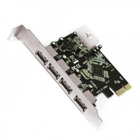 approx! APPPCIE4 Carte de contrôle. PCI-E 4 Ptos USB30