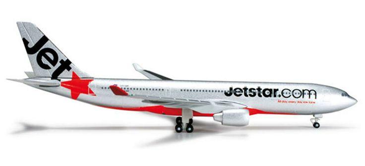 Herpa Jetstar A330-200 diecast pesawat terbang 11 cm 490rb