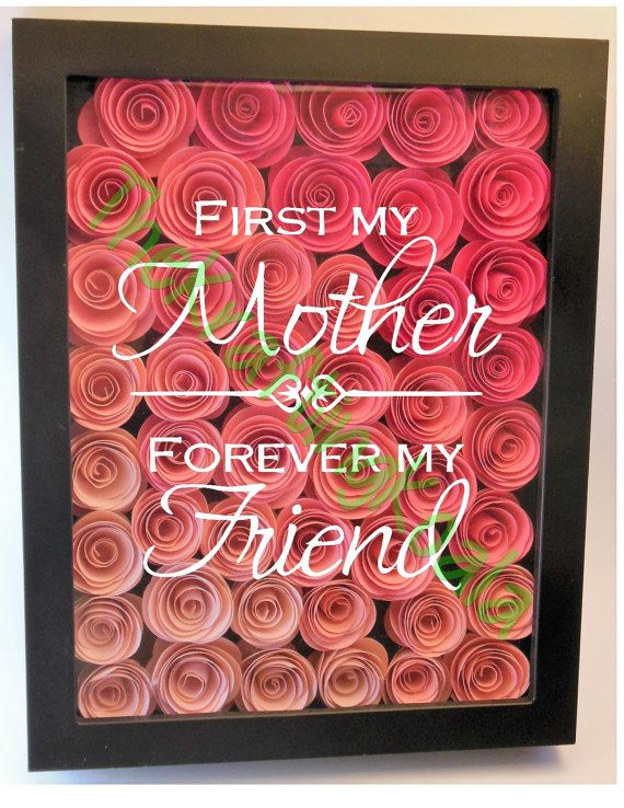First my mother.... Flower Shadow Box 8x10