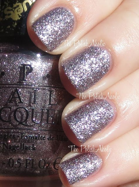 O.P.I. Liquid Sand 'Baby Please Come Home' -  metallic dusty lilac - love this!     OPI Holiday 2013 Mariah Carey Holiday Collection Swatches