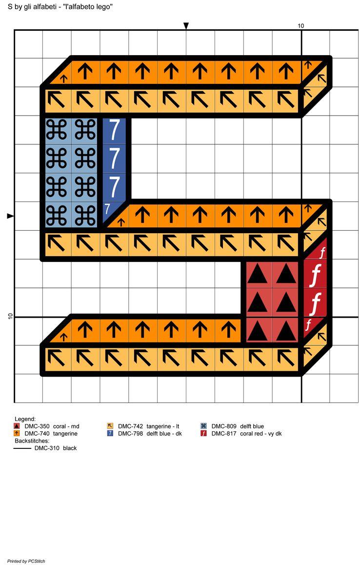 alfabeto lego: S