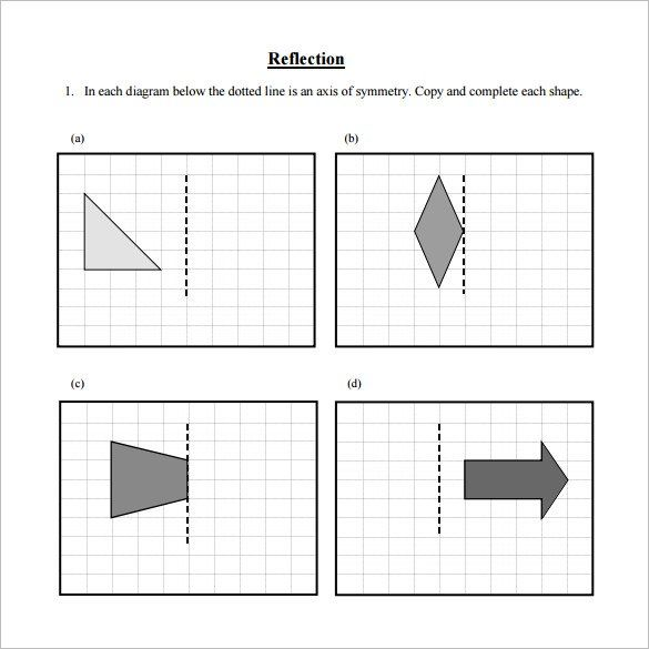 Reflections Math Worksheets Reflection Math Math Worksheets Worksheets