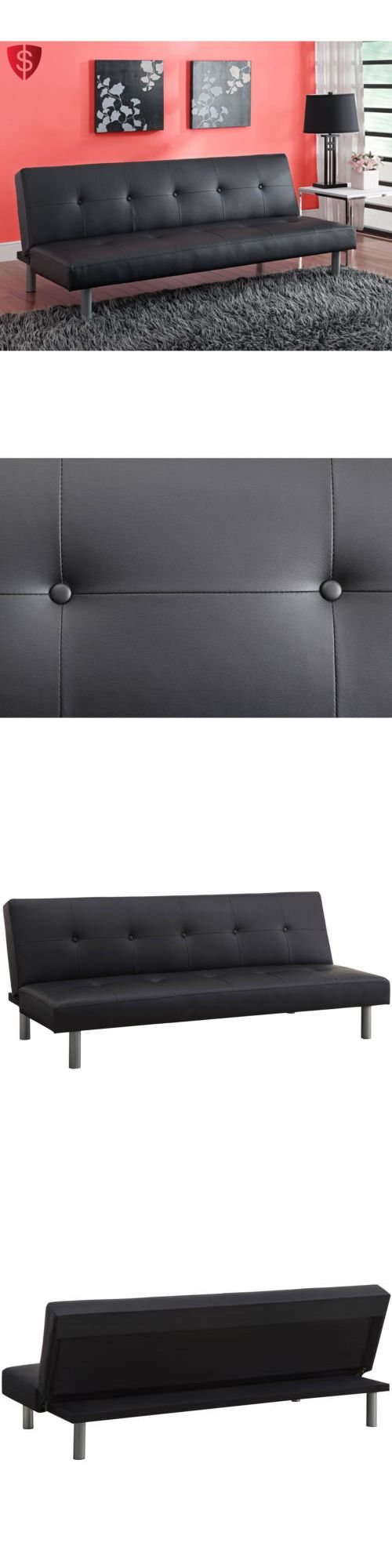 Futons Frames and Covers 131579: Sofa Bed Mattress Sleeper Couch Sleep Foam Furniture Leather Tufted Lounge -> BUY IT NOW ONLY: $173.5 on eBay!