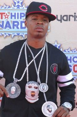 Rapper Plies wears Trayvon Martin as a Gold chain - http://celeboftea.com/rapper-plies-wears-trayvon-martin-as-a-gold-chain/