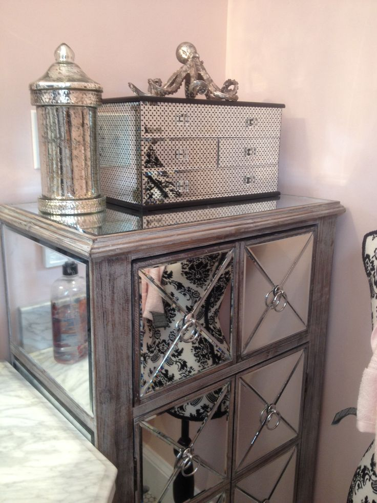 Mirrored Cabinet And Jewelry Box From Home Goods Octopus