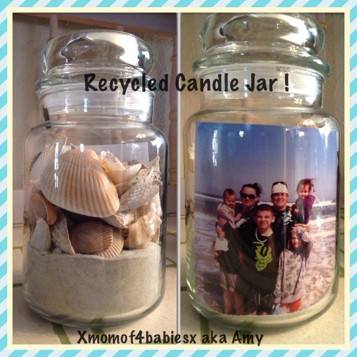 I recycled a Yankee candle jar !! I think it came out great !!