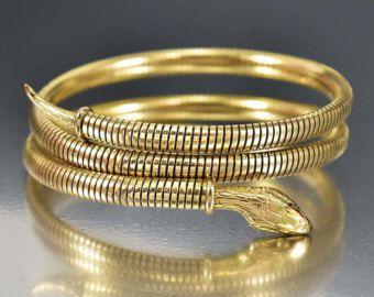 Snake Bracelet Rolled Gold Bracelet Victorian Bracelet