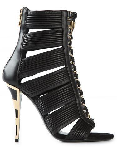 BALMAIN rear zip sandals #sandals #balmain #covetme