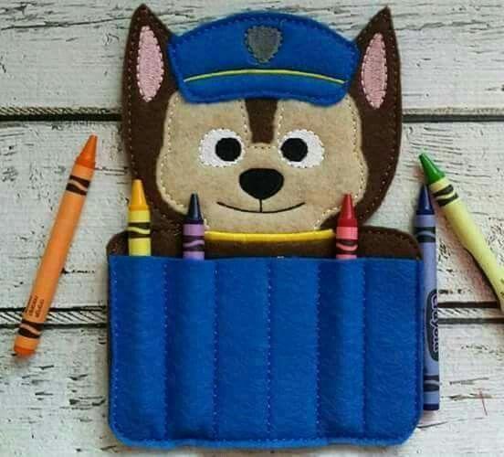 Portalapices de fieltro felt pinterest crayons - Manualidades patrulla canina ...