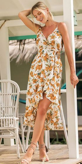 d1f61fd03 Vestido Mullet Floral com Babado em 2019