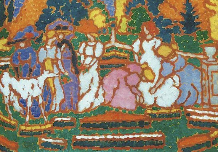 József Rippl-Rónai - Scene in the Garden of Count Somssich 1912-13