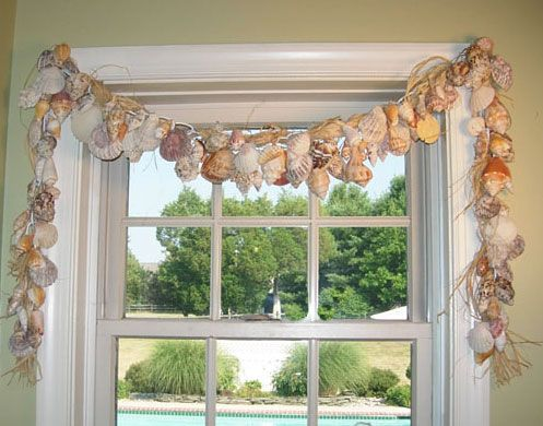 Contemporary Art Sites How to Make an Easy Seashell Window Treatment