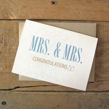 Mrs. and Mrs. Wedding Card-Greeting Cards