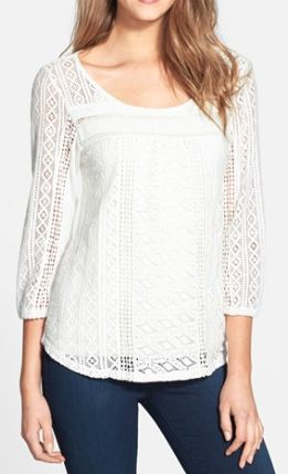 lace knit and jersey top  http://rstyle.me/n/nm6ripdpe