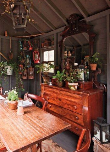 """The """"Potting Shed"""" private dining room at Hidden Pond's Earth restaurant. COURTESY EARTH, PHOTOGRAPH BY TRENT BELL"""